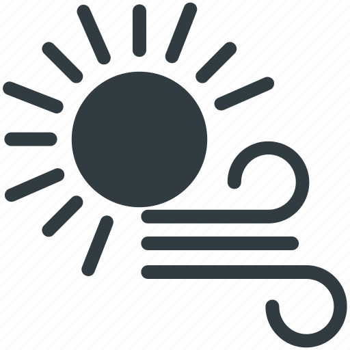 Forecast, sun, weather, weather theme, winds icon - Download on Iconfinder