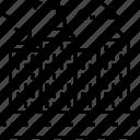 cityscape, commercial buildings, malls, skyscraper, urban state icon