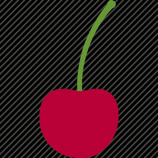 avium, berry, cherry, fruit, prunus, single, wild icon