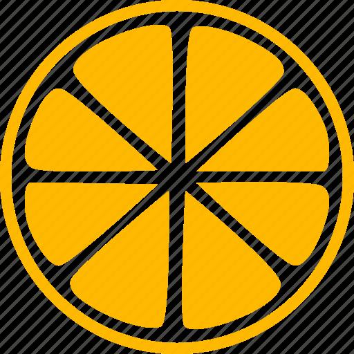 citrus, fruit, garnish, lemon, slice, sour, tropical icon