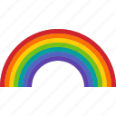 arc, color, colorful, light, pride, rainbow, spectrum icon