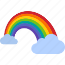 cloud, clouds, color, colorful, light, rainbow, spectrum icon
