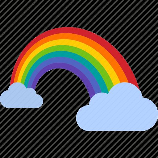 cloud, clouds, color, colorful, light, rainbow, spectrum icon