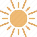 sunlight, sun beams, shining sun, sun icon