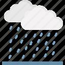 atmosphere, cloud, rain, raindrops icon