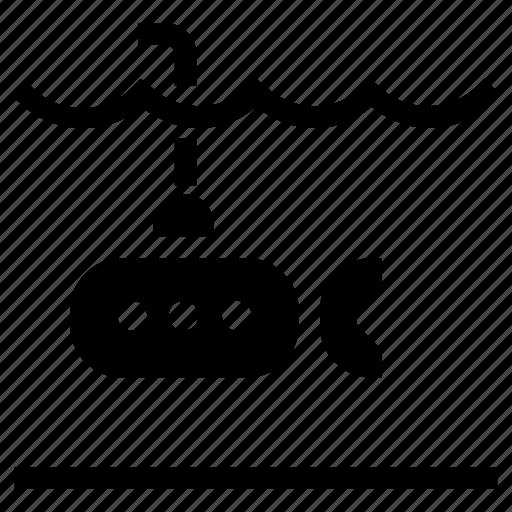 submarine, transportation icon