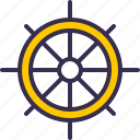 boat, nautical, sea, ship, ship wheel, wheel icon