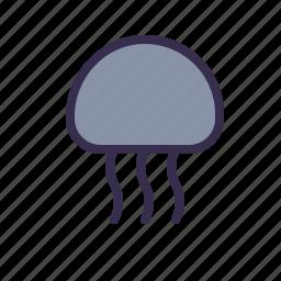 animal, jellyfish, medusa, nautical, sea icon