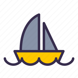 boat, nautical, ocean, sail, sailor, sea, ship icon