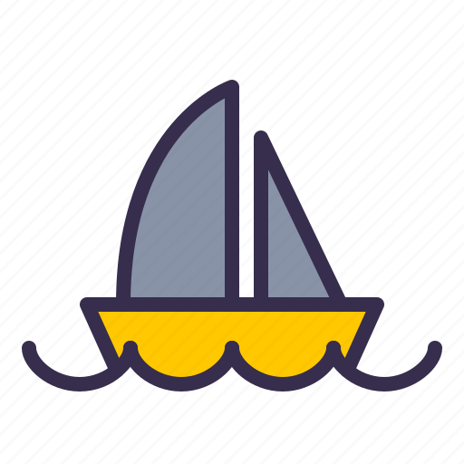 Boat, nautical, ocean, sail, sailor, sea, ship icon - Download on Iconfinder