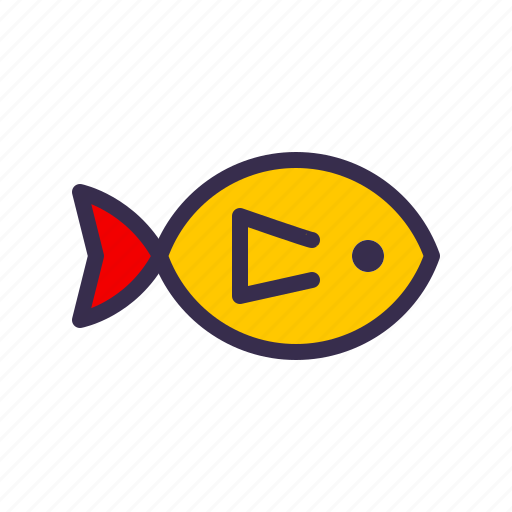 animal, fish, gold, goldfish, nautical, ocean, sea icon