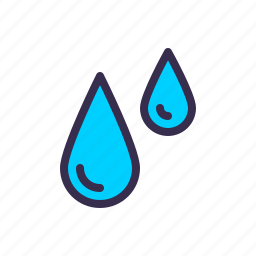 drop, nautical, rain, sea, water icon