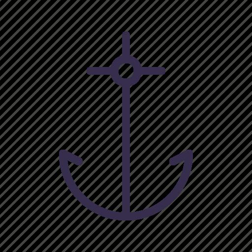 anchor, nautical, ocean, sail, sailor, sea, ship icon