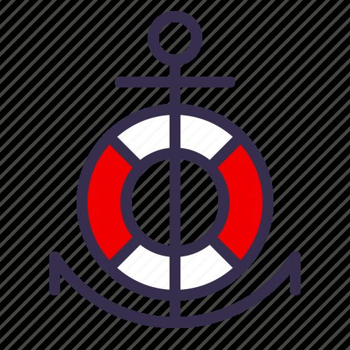 anchor, buoy, guard, life, nautical, safety, sea icon