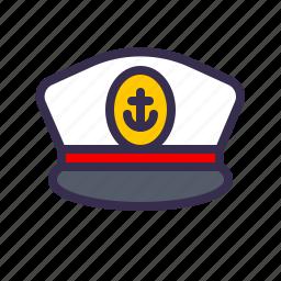 captain, hat, nautical, sea, seaman icon