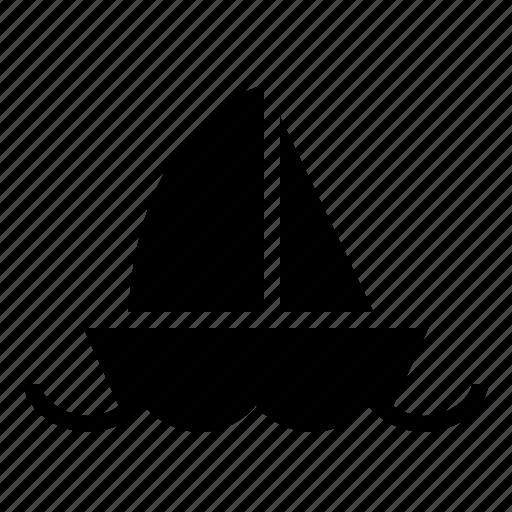 boat, nautical, ocean, sail, sea, ship, water icon