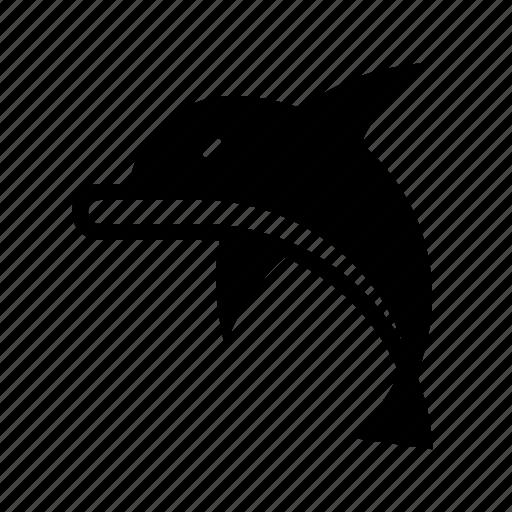 animal, dolphin, nautical, ocean, sea, water icon