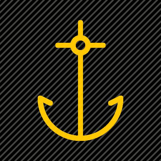 anchor, boat, nautical, ocean, sail, sea, ship icon