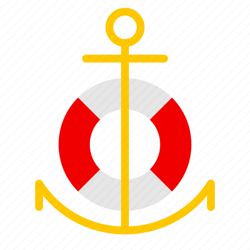 anchor, and, buoy, equipment, nautical, ocean, sail icon