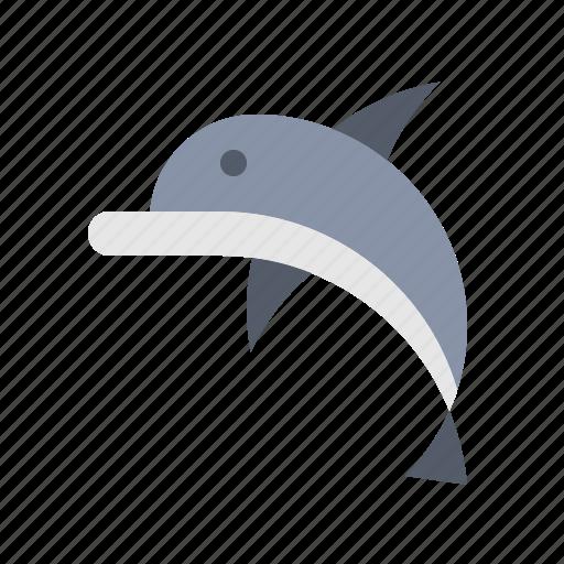 animal, dolphin, nautical, ocean, sea icon