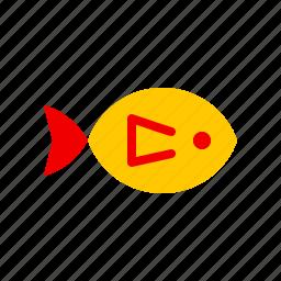 animal, fish, golden, nautical, ocean, river, sea icon