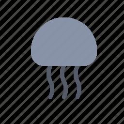 animal, beach, jellyfish, nautical, ocean, sea icon