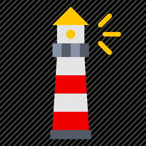 beach, light, lighthouse, nautical, ocean, sea, shore icon