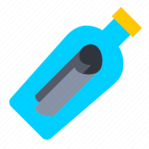a, bottle, message, nautical, ocean, on icon