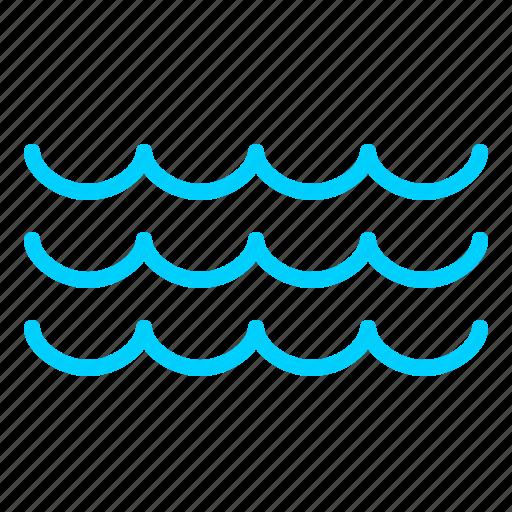 nautical, ocean, sea, tidal, water icon