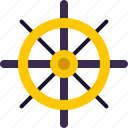 nautical, navigation, ocean, sail, ship, wheel icon