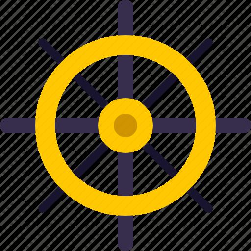 nautical, navigation, ocean, sail, ship, wheel icon