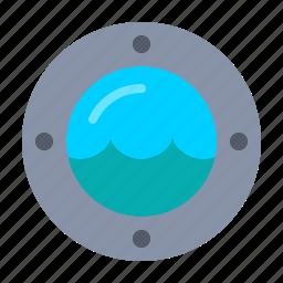 nautical, ocean, sea, ship, water, window icon