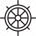 boat, direction, nautical, ocean, sea, ship, wheel icon
