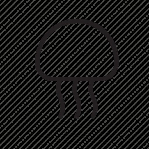 Animal, jellyfish, medusa, nautical, ocean, sea icon - Download on Iconfinder