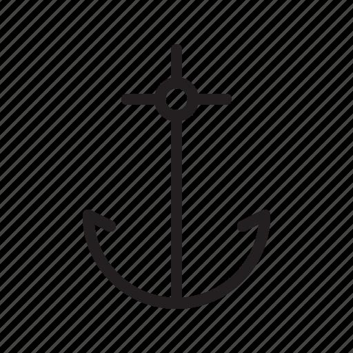 anchor, beach, boat, nautical, ocean, sea, ship icon