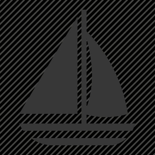 boat, nautical, sailboat, sea, travel icon