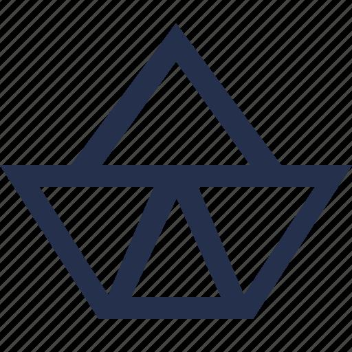 paper, ship icon