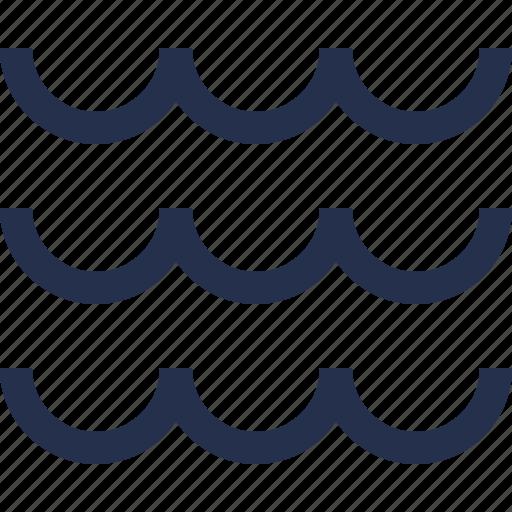 sea, waves icon