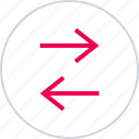 activity, arrow, arrows, left, menu, right icon