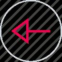 arrow, back, backwards, left, menu, point icon