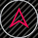 arrow, gps, menu, pin, up, upload icon