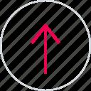 arrow, arrows, menu, point, up, upload icon