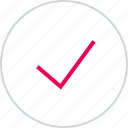approved, check, good, mark, menu, ok icon