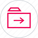 archive, arrow, folder, menu, next, safe, save icon