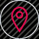 direction, gps, locate, location, menu, pin icon
