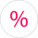 interest, menu, percent, percentage, rate, revenue icon