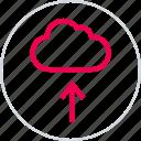 cloud, menu, safe, secure, up, upload icon