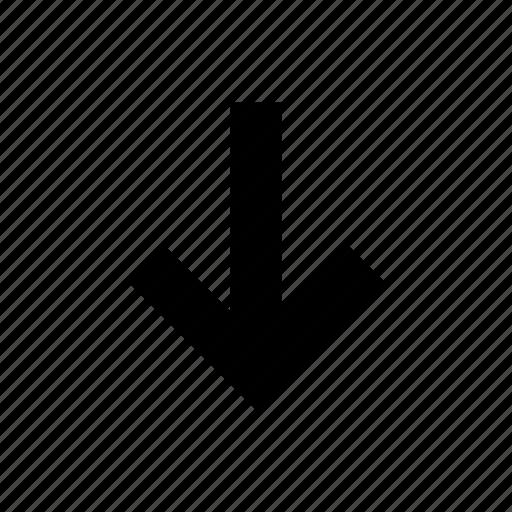arrow, back, bottom, down, navigation icon