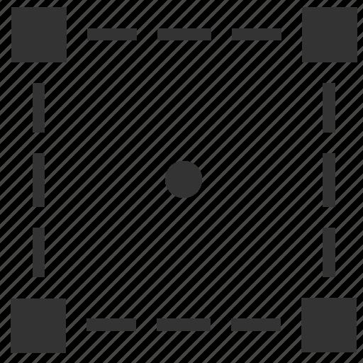 area, figure, geometry, object, select, square, tranform icon