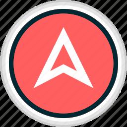 arrow, menu, nav, navigation, up icon